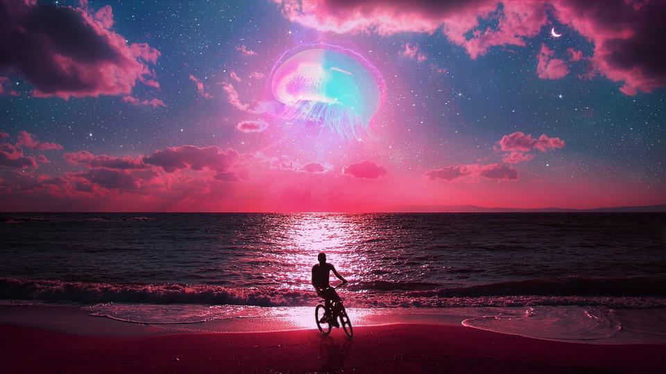 Pink, Galaxy, Ocean, Space, Sky, Universe, Atmosphere