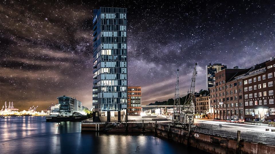 Sky, Milkyway, Hamburg, Germany, Astronomy, Universe
