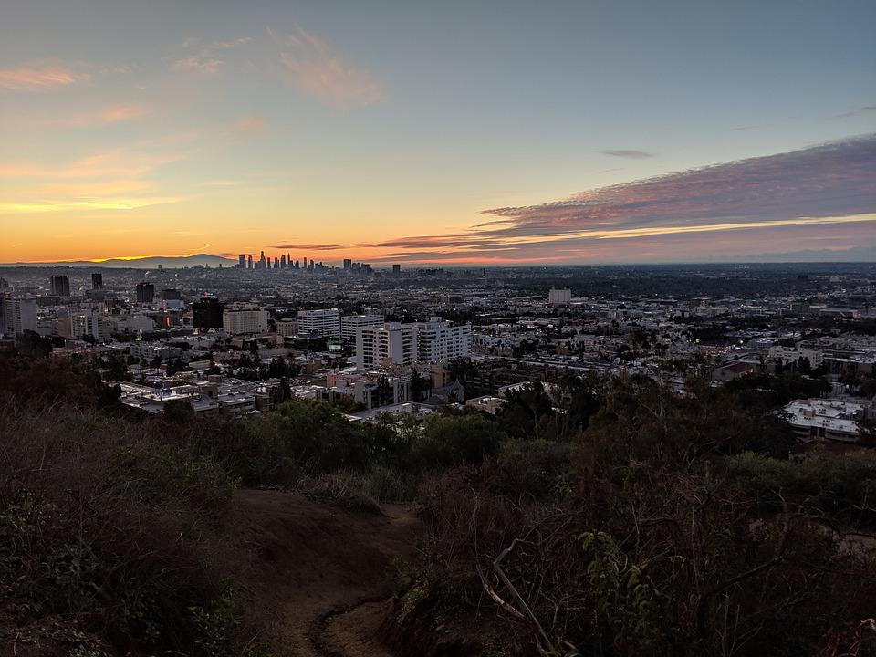 La, Los Angeles, California, Usa, America, Sky, Skyline