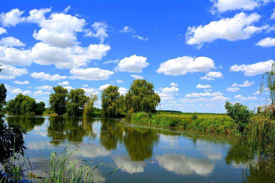 Sky, Water, Cloud, Lake, Reflection, Nature, Vegetation