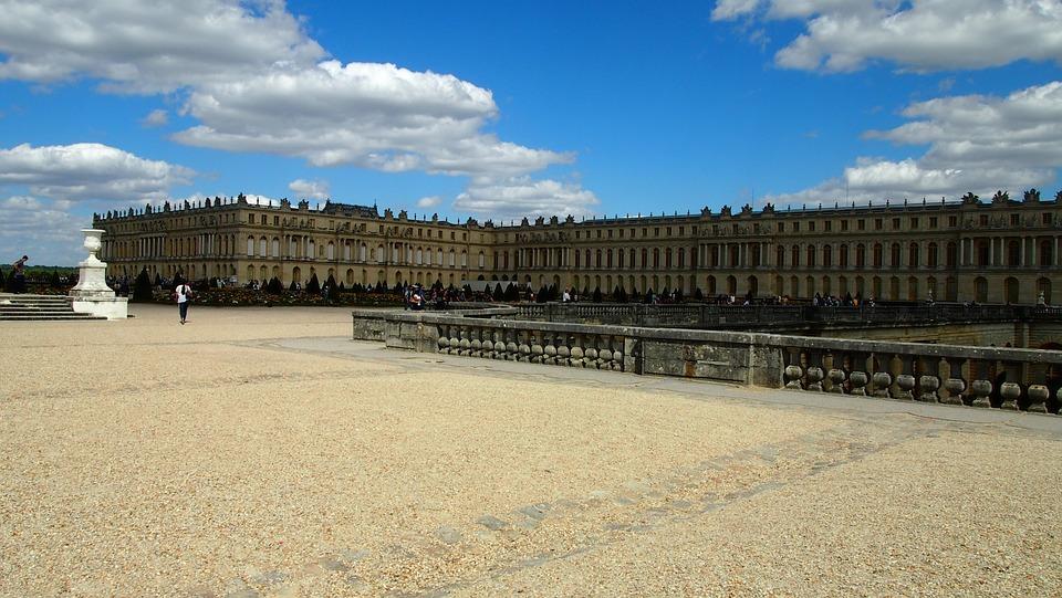 Versailles, Castle, Paris, Places Of Interest, Sky