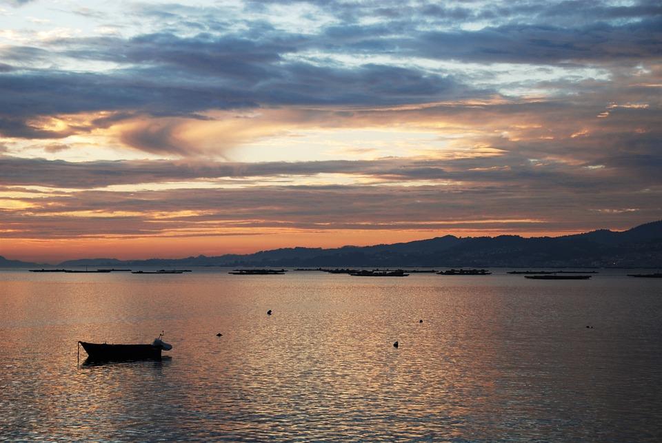 Galicia, Ria De Vigo, Vigo, Spain, Sky, Atlantic Ocean