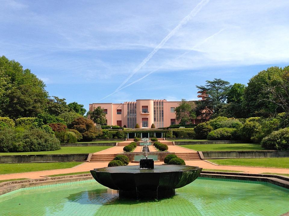 Portugal, Villa, Garden, Sky, Water, Landscape, Pool