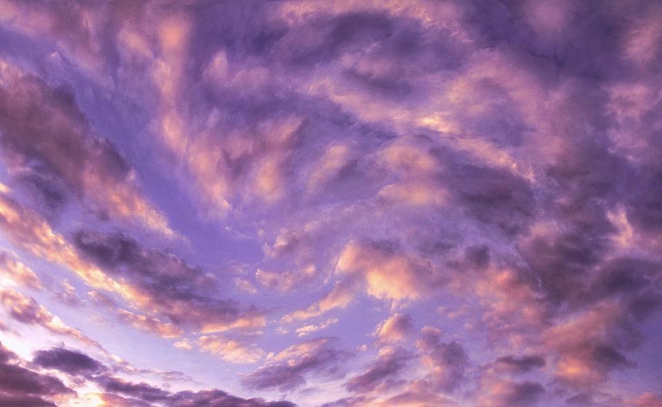Clouds, Sky, Movement, Eddy, Weather, Violet, Purple