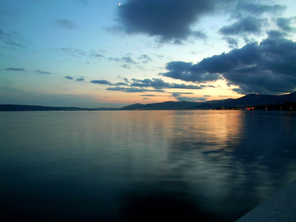Lake, Clouds, Abendstimmung, Sky, Water, Cloud Movement