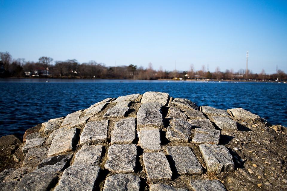 Stone, Lake, Water, Outdoor, Park, Sky, Rock, Horizon