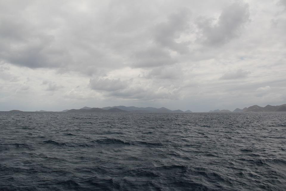 Ocean, Clouds, Sea, Overcast, Grey, Gray, Water, Sky