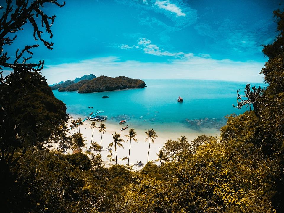 Blue, Sky, Sea, Beach, Ocean, Clouds, Water, Landscape