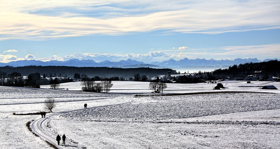 Nature, Waters, Winter, Snow, Landscape, Sky, Panorama
