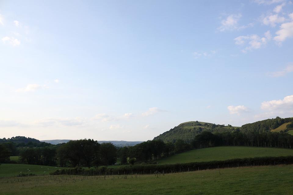 Landscape, Green, Blue, Sky, Nature, Wales, Uk, Welsh