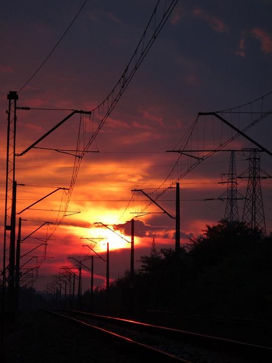 Sunset, Sky, Orange Sky, Sun, West, The Backlight