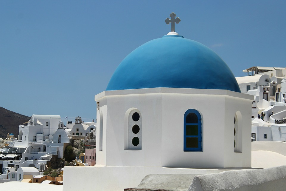 Architecture, Travel, Sky, Outdoors, Blue, White, Dome