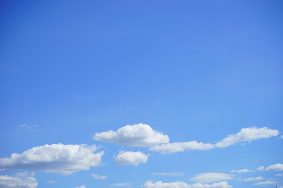 Clouds, Sky, Summer Day, Blue, White, Clouds Form