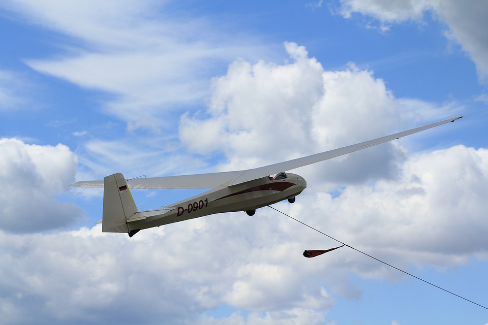 Gliding, Ka8, Sky, Clouds, Winch Towing, Air Sports