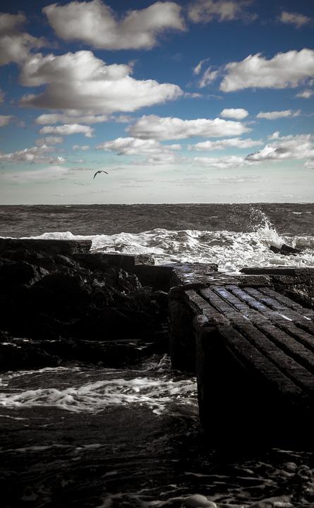 Sea, Sky, Clouds, Horizon, Wind, Nature, Landscape