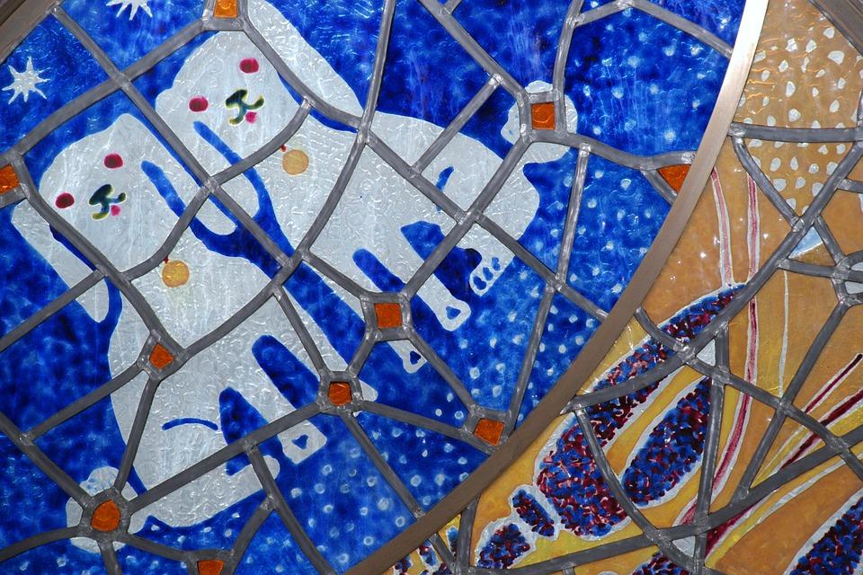 Blue, Windows, Front, Window, Sky, Glass, Mosaic