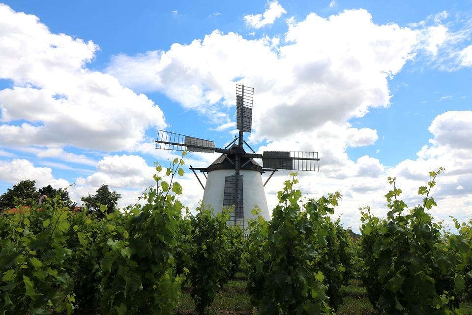 Windmill, Sky, Mill, Clouds, Landscape, Wing, Wind