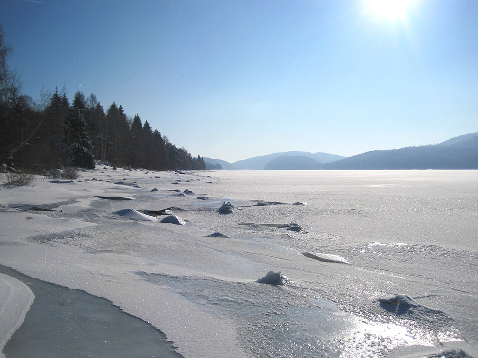 Landscape, Winter, Lake, Frozen, Ice, Snow, Icy, Sky