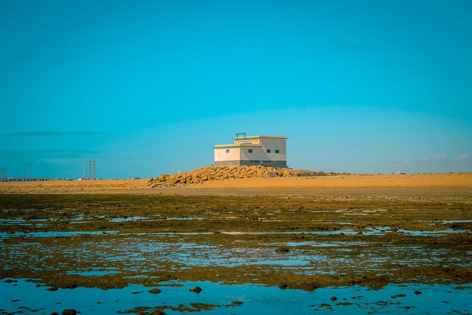 House, Morocco, Desert, Water, Yellow, Sky