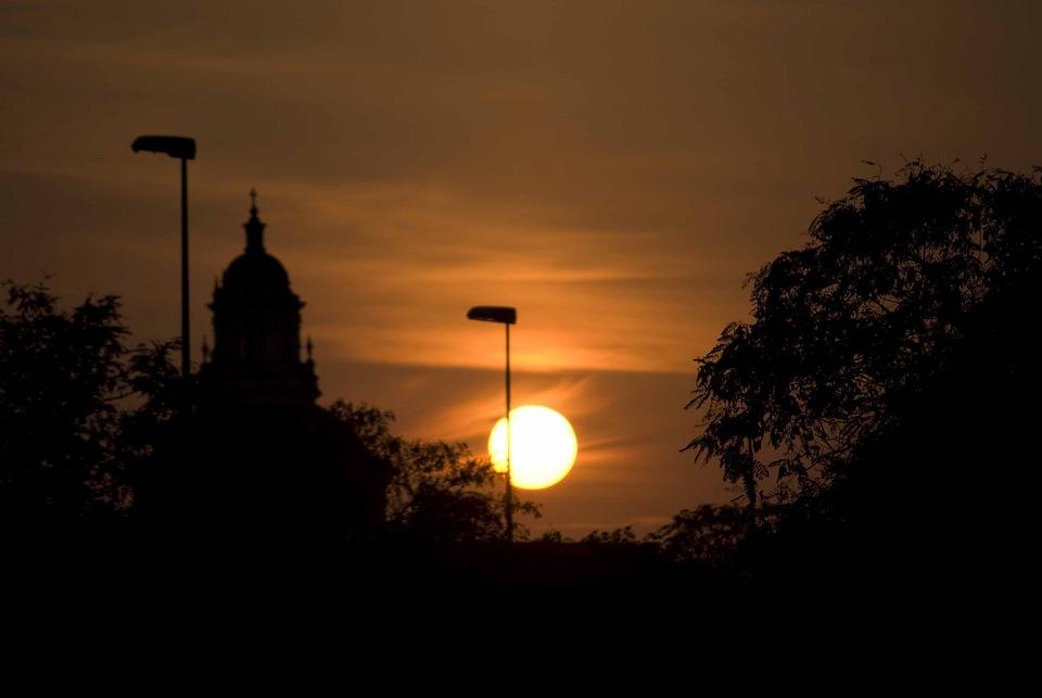 Sunset, Sun, Seville, Background Image, Sky, Yellow