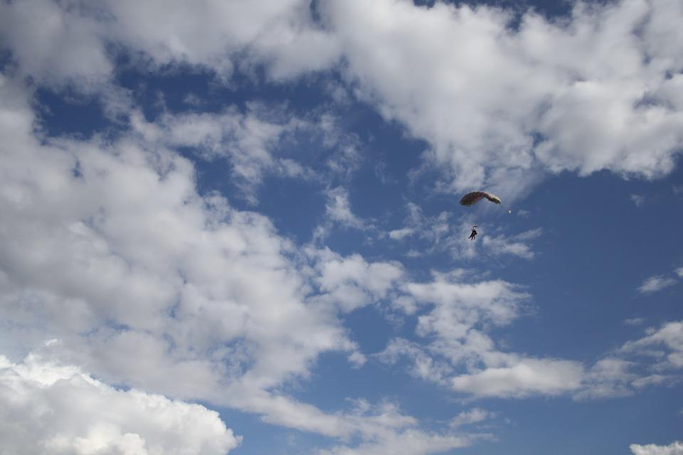 Skydive, Skydiver, Sky, Parachute, Extreme Sports