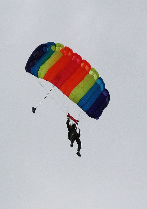 Parachute, Skydiving, Jump, Adventure, Parachuting