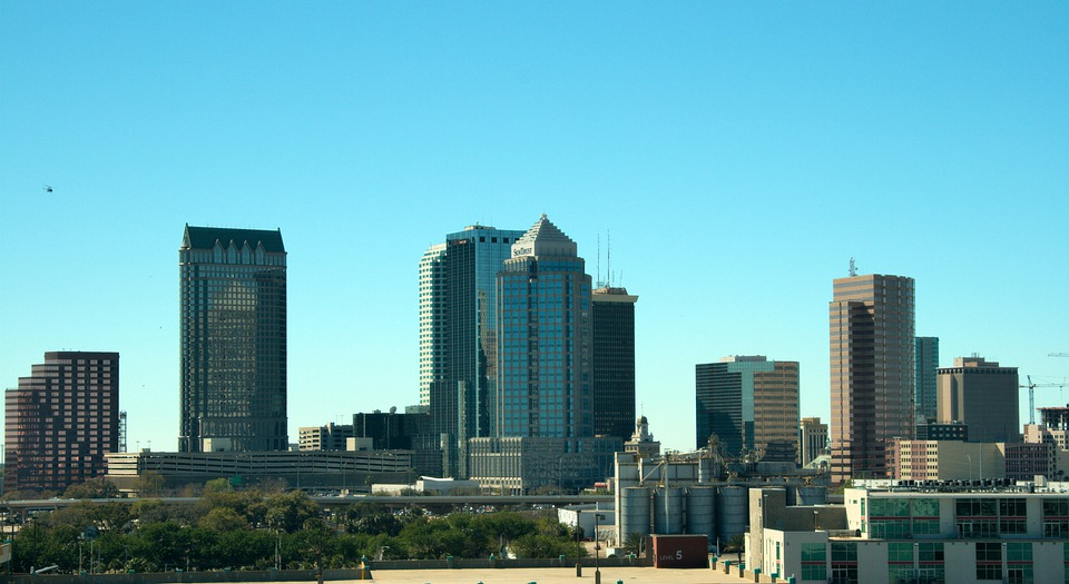 Florida, Skyline, Tampa, City, Building, Architecture