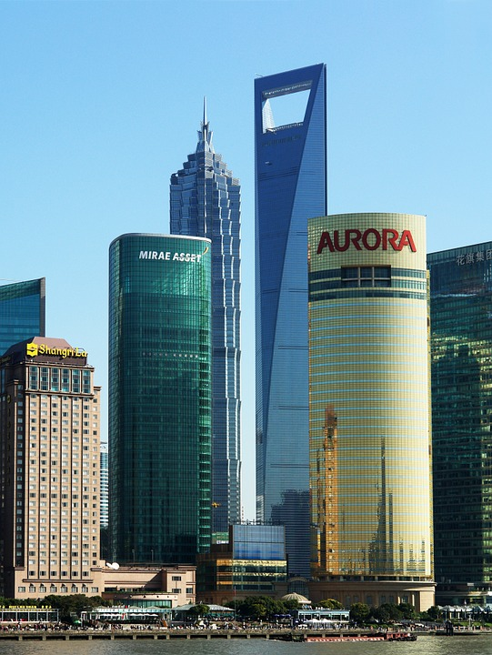 Shanghai, Skyline, Building, China, Architecture