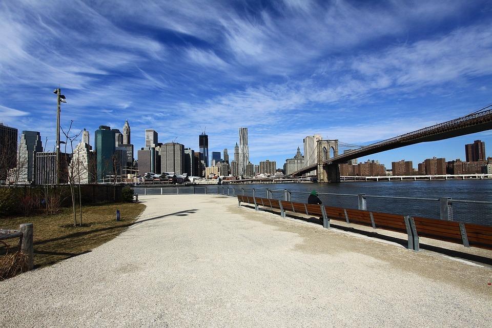 New, York, City, Manhattan, Island, Skyline, Brooklyn