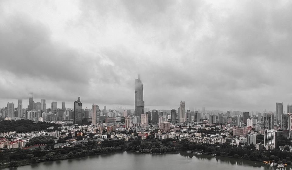 Buildings, Slycrapers, Skyline, Urban, Aerial, City