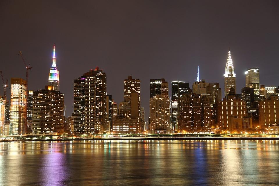 City, Skyline, Architecture, Cityscape, Illuminated