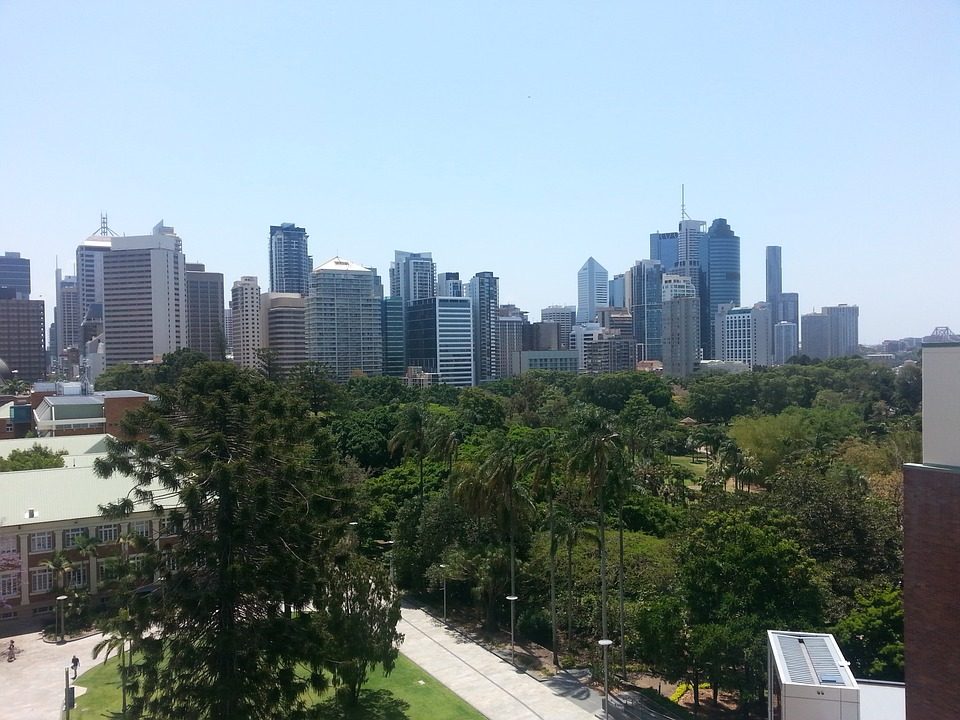 Brisbane, Queensland, Urban, Skyline, Cityscape
