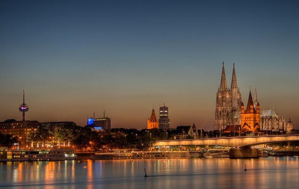 Cologne, Kaitlyn Dom, Dom, Church, City, Skyline, River