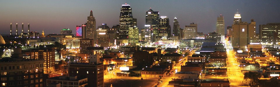 Skyline, Kansas City, Downtown, Urban, Twilight