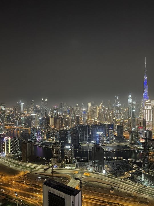 Dubai, Burj Khalifa, City, Emirates, Cityscape, Skyline