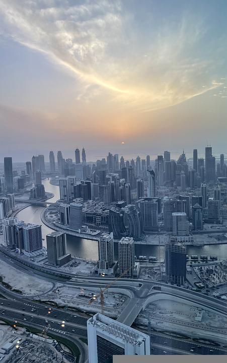 Dubai, Emirates, City, Sunset, Cityscape, Skyline