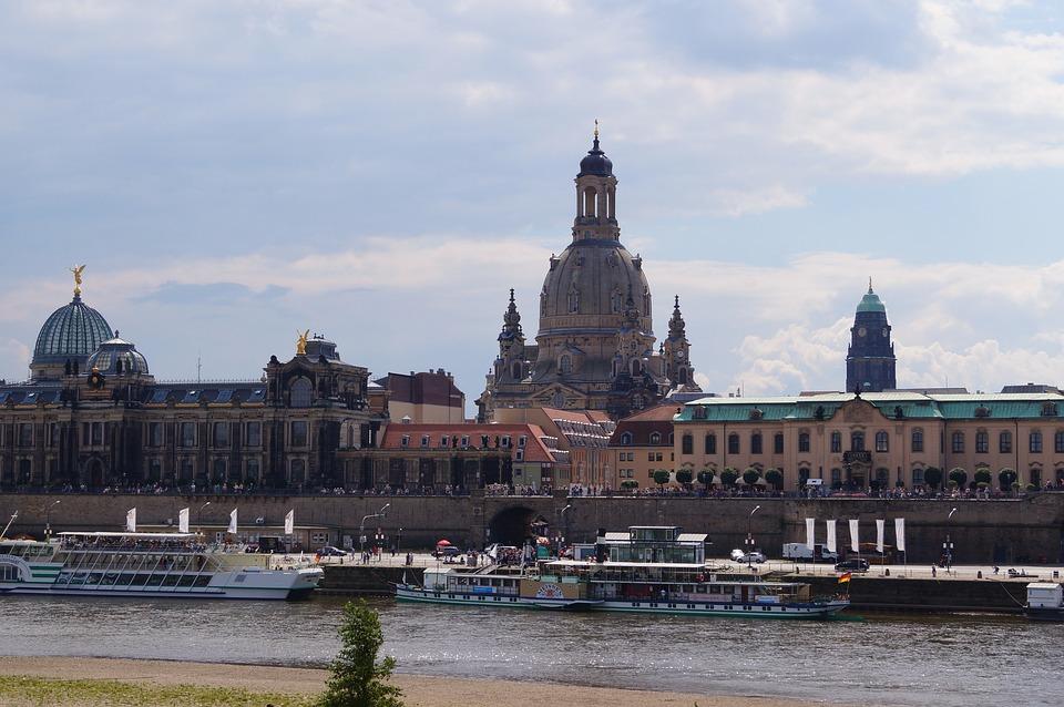 Dresden, Frauenkirche, Skyline, Canaletto, Elbe