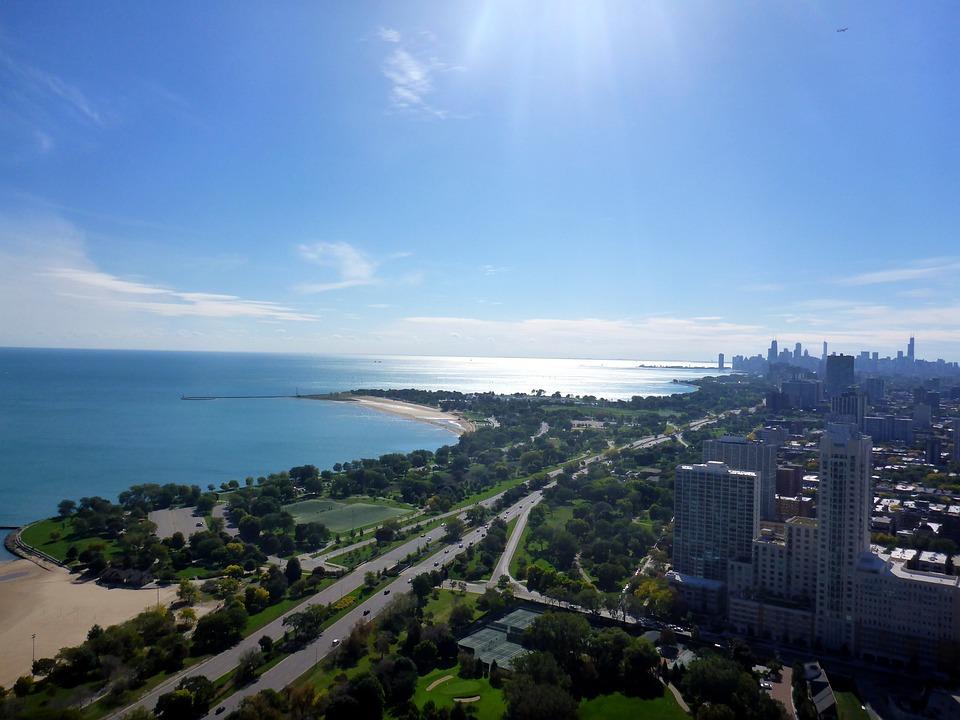 Lake Michigan, Chicago, Skyline, Lake Shore