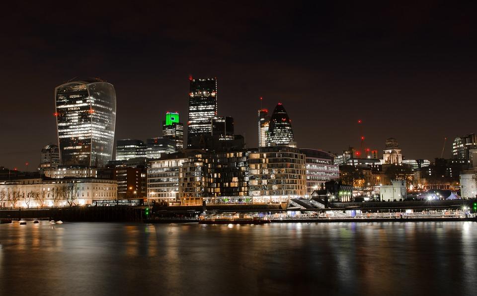London, City, Skyline, Night, The City