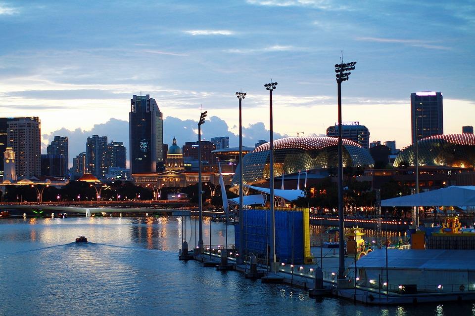 Singapore, Skyline, Marina, Cityscape, Urban