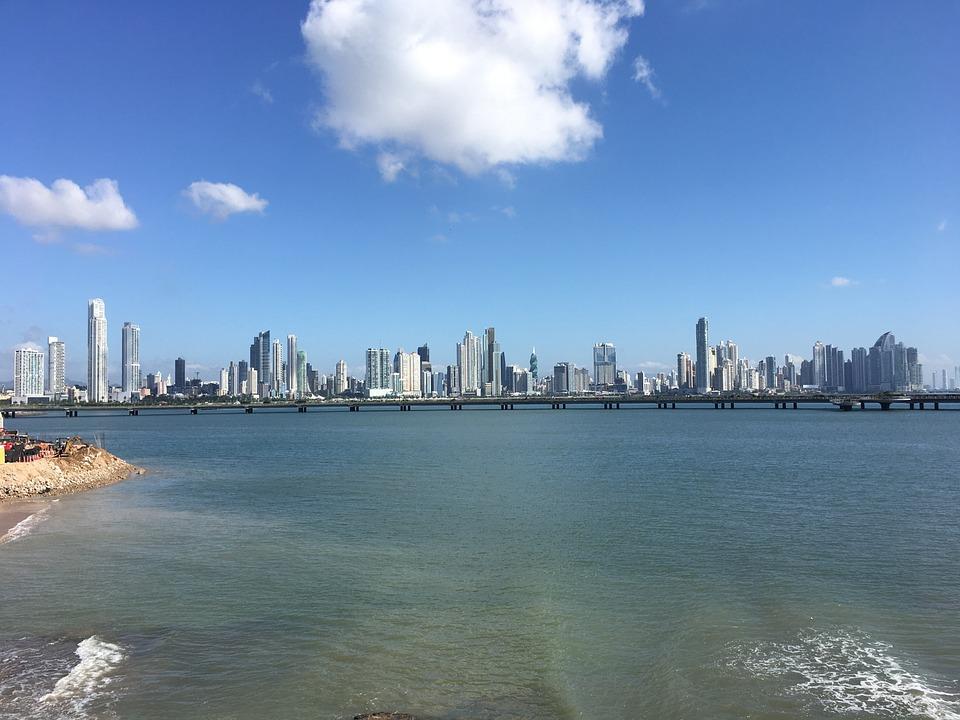 Panama, Blue, Skyline, City, Skyscraper, Sky