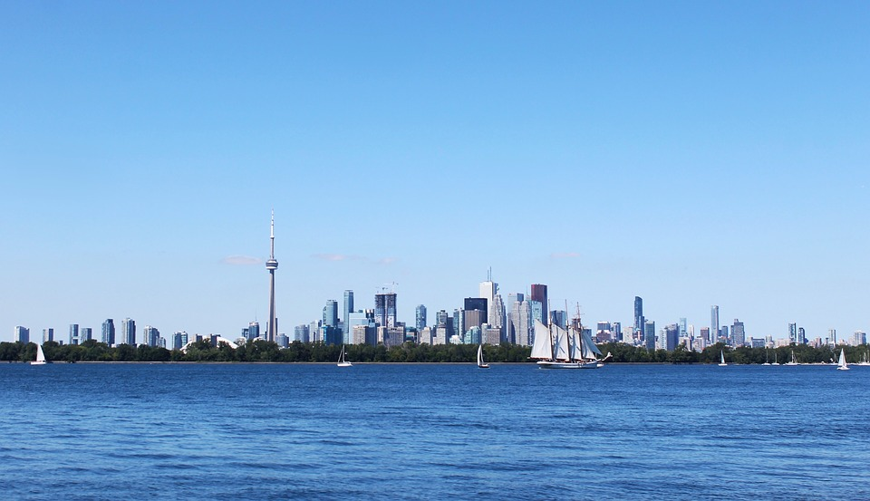 Toronto, City, Skyline, Sky, Canada, Panorama, Urban