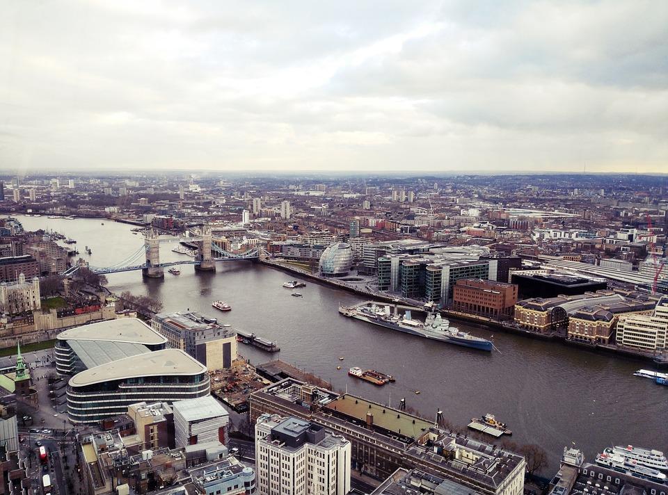 London, Skyline, City, Cities, Horizon, River