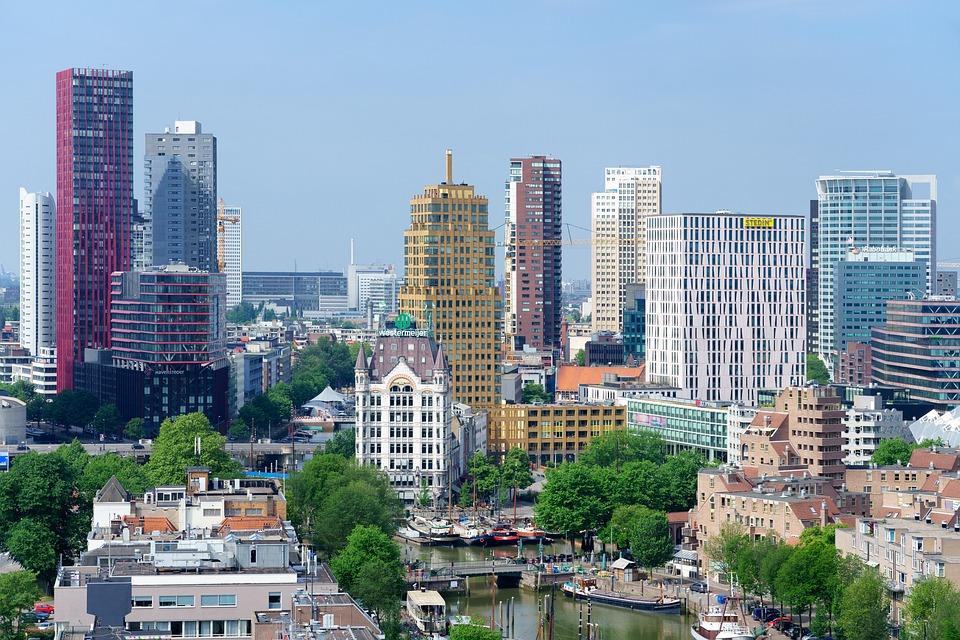 View, Skyline, Rotterdam, City, Skyline Rotterdam