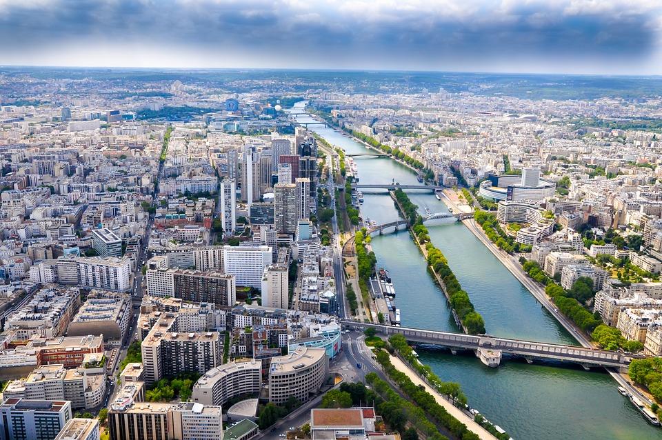 City, Buldings, Skyline, Paris, The River Seine