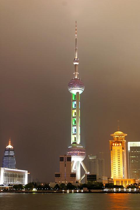Shanghai, China, Federal Government, Skyline, Tv Tower