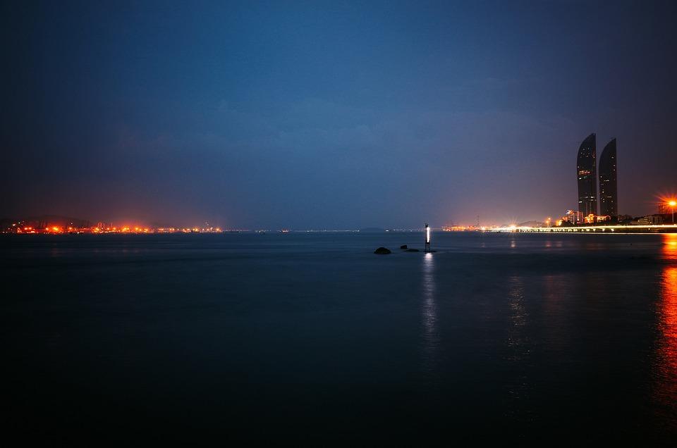 Xiamen, Night View, Harbor, Skyline