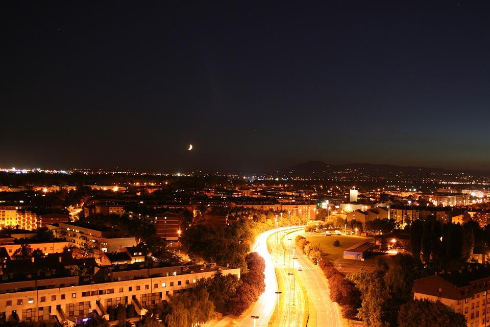 City Skyline, Zagreb, City Night, Skyline, Panorama