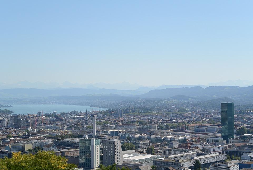 Zurich, City, Lake Zurich, Skyline, Prime Tower