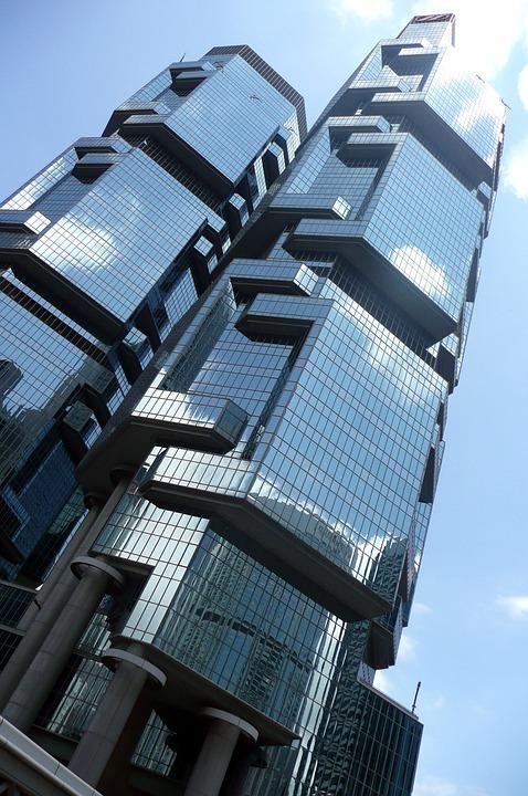 Building, Mirror, Lippo Center, Hong Kong, Skyscraper
